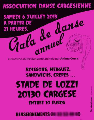 Affiche Gala de danse