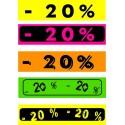 """Bandeaux fluo """"-20%"""" 18-60 cm"""
