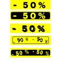 """Bandeaux fluo """"-50%"""" 18-60cm"""