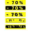 """Bandeaux fluo """"-70%"""" 18-60cm"""