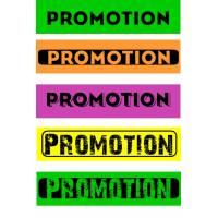 """Bandeaux fluo """"Promotion"""""""