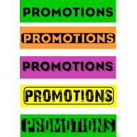 """Bandeaux fluo """"Promotions"""""""