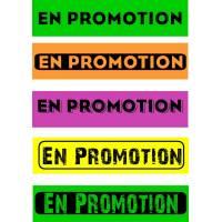 """Bandeaux fluo """"En promotion"""""""