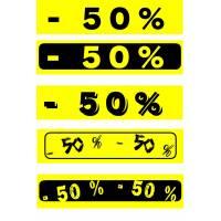 """Bandeaux fluo """"-50%"""""""