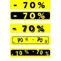 """Bandeaux fluo """"-70%"""""""