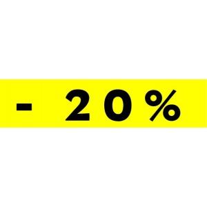 Bandeaux fluo -20% jaune modèle 1