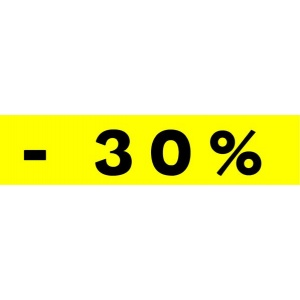 """Bandeaux fluo """"-30%"""" JAUNE 1"""