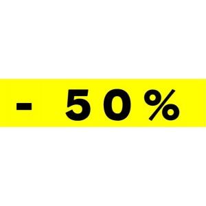"""Bandeaux fluo """"-50%"""" JAUNE 1"""
