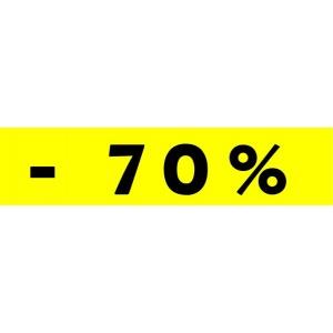"""Bandeaux fluo """"-70%"""" JAUNE 1"""