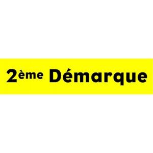 """Bandeaux fluo """"2ème démarque"""" JAUNE 1"""