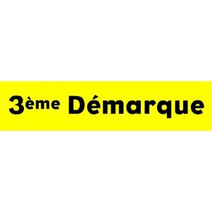 """Bandeaux fluo """"3ème démarque"""" JAUNE 1"""