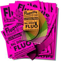 Pack affiches fluo Modulo ROSE