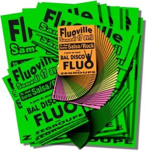 Pack affiches fluo Modulo VERT