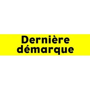 """Bandeaux fluo """"Dernière démarque"""" JAUNE 1"""