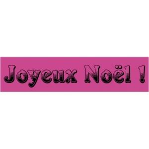 Spécial fête de noël - bandeaux fluo-30-90cm-ROSE