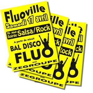 4 affiches FLUO 60X90 cm (A1) J
