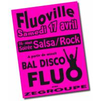 Affiches fluo roses