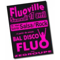 4 affiches fluo - 60/90 cm -special reimpression