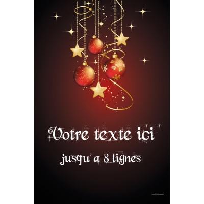 Populaire affiche Noël couleur A3 Boules de noël WH16