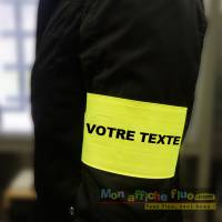 Brassard sécurité personnalisable fluo par Monaffichefluo