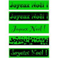 Spécial fête de noël - bandeaux fluo-60-180cm-VERT