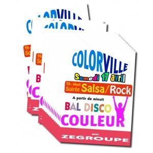impression 200 affiches en couleur (Quadrichromie)