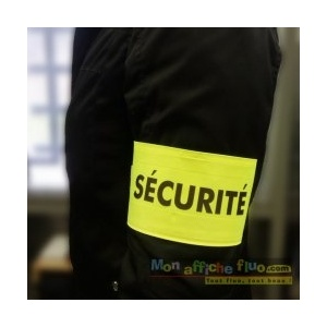 Brassard sécurité fluo par Monaffichefluo