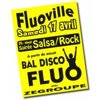 Affiches fluo A3 jaune