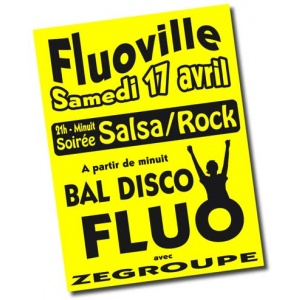 Affiches fluo A1 jaune