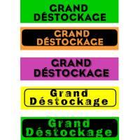 """Bandeaux fluo """"Grand déstockage"""""""