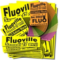 Pack affiches fluo Modulo JAUNE