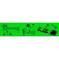 Spécial fête de fin d'année - bandeaux fluo-VERT-1-30/90