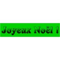 18/60 - Joyeux Noël - bandeaux fluo-VERT-1