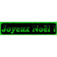 18/60 - Joyeux Noël - bandeaux fluo-VERT-2