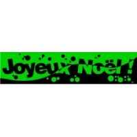 18/60 - Joyeux Noël - bandeaux fluo-VERT-4