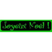 18/60 - Joyeux Noël - bandeaux fluo-VERT-5