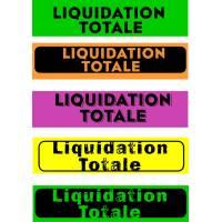 """Bandeaux fluo """"Liquidation totale"""""""