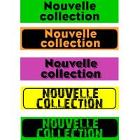 """Bandeaux fluo """"Nouvelle collection"""""""