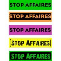 """Bandeaux fluo """"Stop affaires"""""""