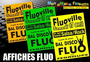 Impression affiches fluo