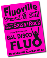 Affiche A3 rose fluo